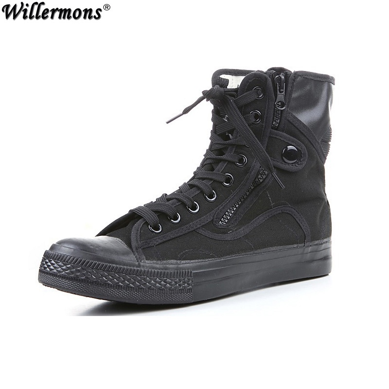Summer Men S Outdoor Breathable Canvas Army Combat Boots