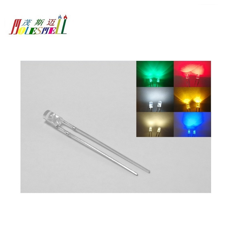 1000 pcs 5mm Flat top Red LED Wide Angle Flat Head Light lamp New Free Shipping