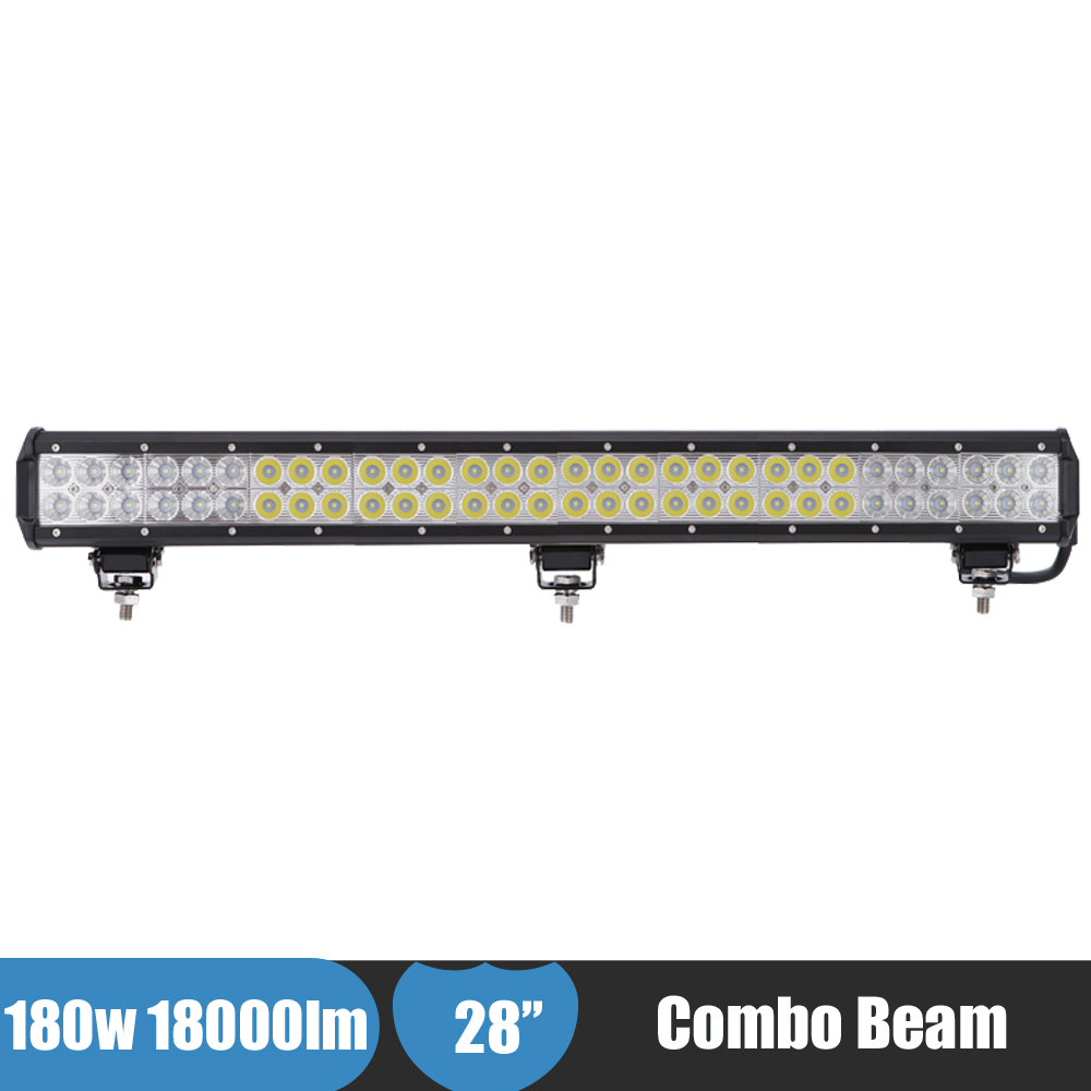 28Inch 180W Combo LED Light 4x4 Truck Tractor Suv ATV Offroad Light Bar LED Work Light Car Fog Driving Light Bumper Bar for Ford 11 60w led work light bar for atv 4x4 combo led offroad light bar tractor offroad fog light work light seckill 36w 72w