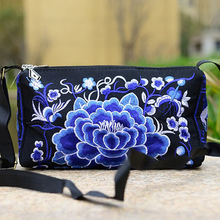 2018 Handmade Double Faced National Embroidered Shoulder Messenger Bag Small Boho Thai Chinese Style Embroidery Cross Body