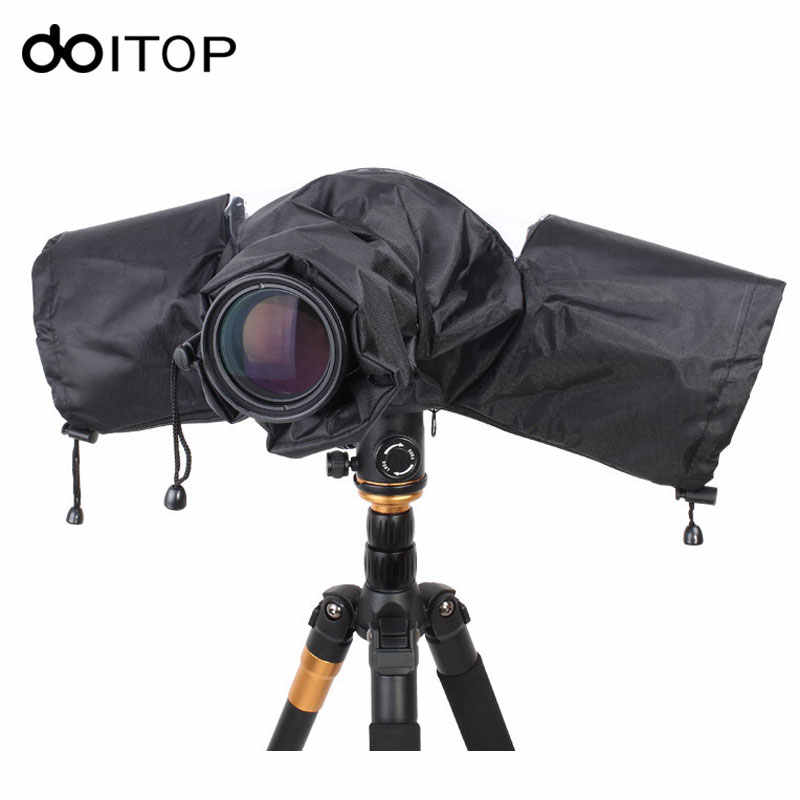 DOITOP Portable Rainproof Protector DSLR Telephoto Lens Camera Rain Cover Dustproof Camera Raincoat for Canon Nikon Pendax Sony