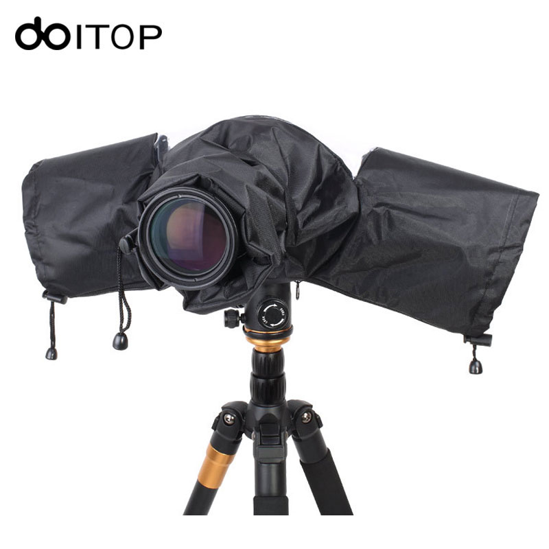 все цены на DOITOP Portable Rainproof Protector DSLR Telephoto Lens Camera Rain Cover Dustproof Camera Raincoat for Canon Nikon Pendax Sony онлайн