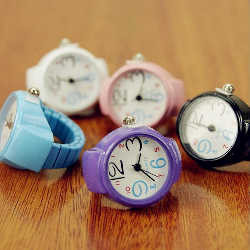 Online-Shop Neue Design Candy Farbe Uhr Ring Frauen Mädchen Fashion ...