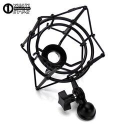Metalowe mocowanie przeciwwstrząsowe mikrofonu nagrywania studyjnego mikrofon pojemnościowy stojak odporny na wstrząsy dla Neumann C01U Pro BM 800 700 BM700 BM800|Statyw mikrofonowy|   -
