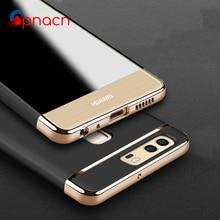 Футляр для Huawei P9 Lite P10 360 Степень защиты телефона чехол для Huawei P10 Lite случаях ПК Роскошные золотой Бренд матовая крышка