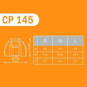 Image 4 - SpinFit CP145 インイヤーイヤホン特許 360 度自由に回転イヤーチップシリコーンイヤーチップ 4.5 ミリメートルノズル径 CP100M CP100L/ S CP800M