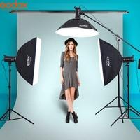 Godox 3x SK400 400Ws Photo Studio Flash Strobe Light 110v/220v with 50W Modeling Lamp Softbox,Light Stand kit shooting table