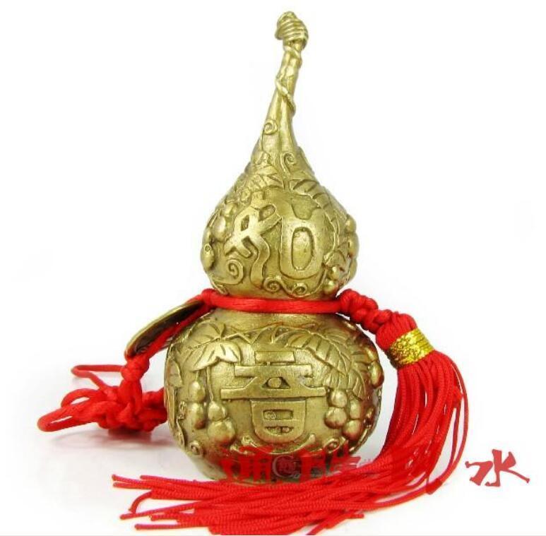 NEW Copper gourd pendant small decorative arts and crafts arts and crafts art decor art craft - title=