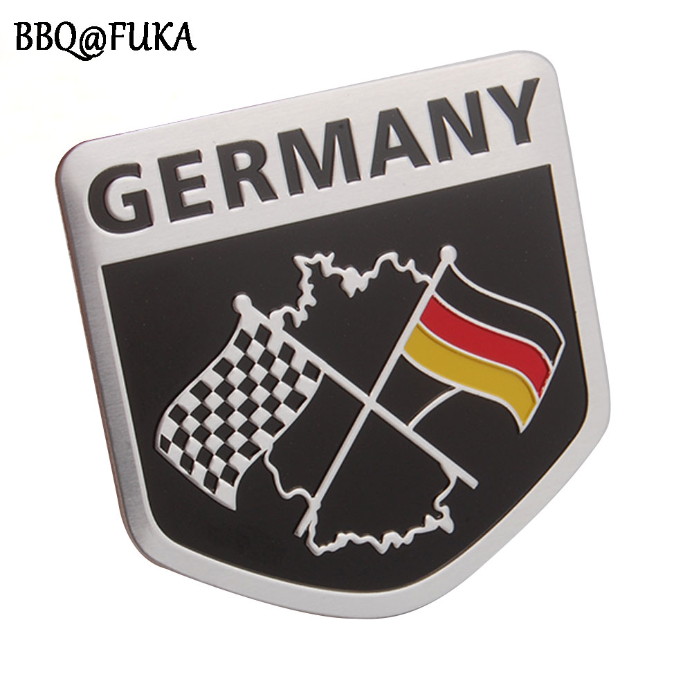 BBQ@FUKA 3D Aluminium Car Germany German Flag Emblem