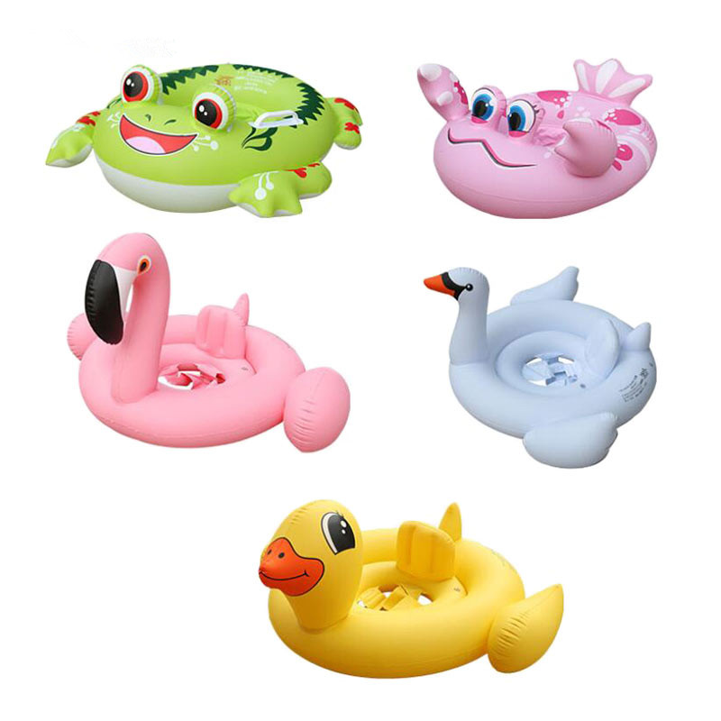 Summer Cute Kids Baby Child Inflatable Swimming Laps Pool Swim Ring Seat Float Boat Water Sports New Animal Safe Thickened Loop