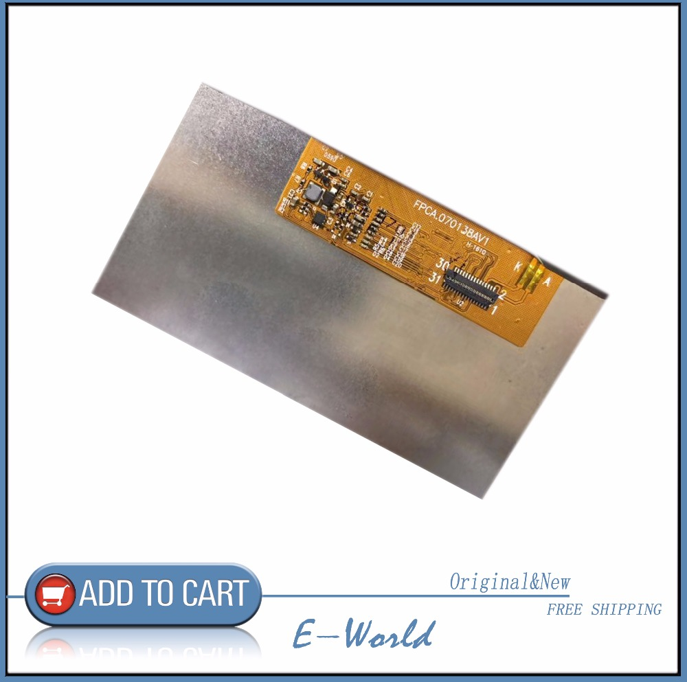 Original 7inch 31pin LCD screen FPCA.070138AV1 for tablet pc free shipping a 7inch lcd screen hv070wsa 100 1940 hv070wsa 100 hv070wsa for p1000 p6200 p3100 p3110 tablet pc
