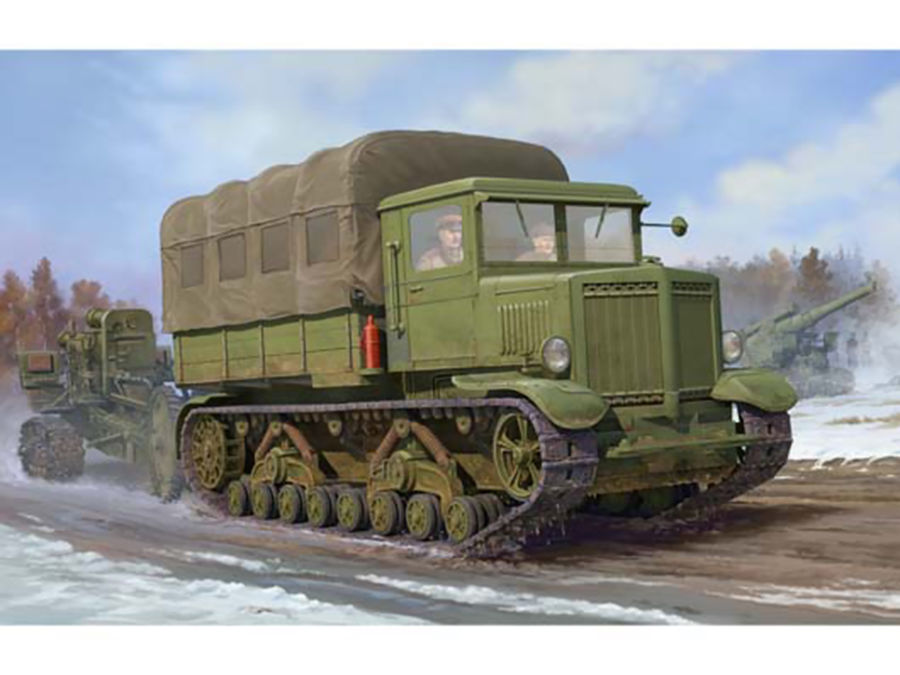 1pcs Action Figures Toy Kids Gifts Toy Collection For Trumpeter 1/35 01573 Russian Voroshilovets Tractor Model Kit 1pcs action figures toy kids toy collection for trumpeter 1 35 scale model 05531 sd kfz 6 5 tonne semi crawler artillery tractor