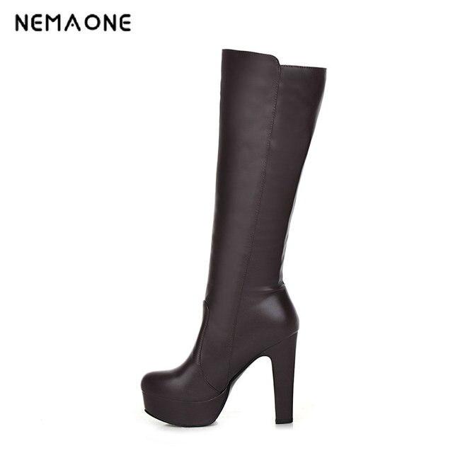 2017 automne et d'hiver nouvelles femmes & # 39; chaussures de bottes à talons hauts femmes & # 39; bottes de chevaliers de la O8TiWB4qyx
