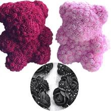 2cm Mini silk Foam Rose Artificial Flower Heads Wedding Home Decoration Polystyrene Styrofoam Mold teddy bear flower
