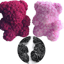 2cm Mini silk Foam Rose Artificial Flower Heads Wedding Flower Home Decoration Polystyrene Styrofoam Mold teddy bear Rose flower(China)