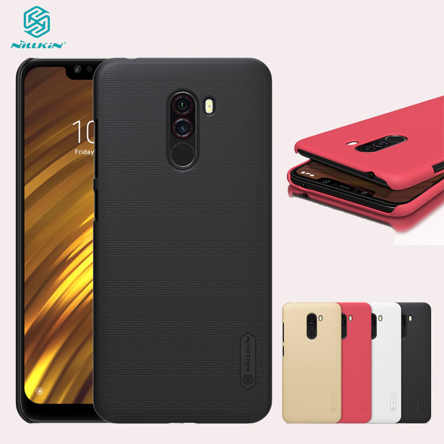 For Xiaomi Pocophone F1 Case NILLKIN Genuine Frosted Shield PC Hard Plastic Stylish Back Cover for Xiaomi Pocophone F1 Cover|Fitted Cases| |  - title=