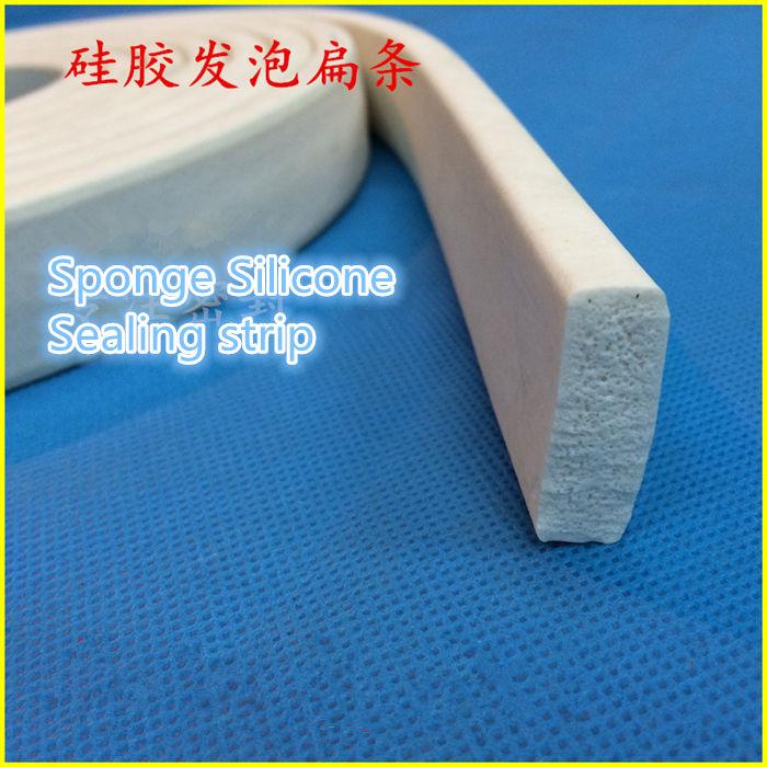 1PCS SF023 SIZE 3*30mm Sponge Silicone Sealing strip Silicone Foam Length 1meters Anti-slip waterproof heat-resistant