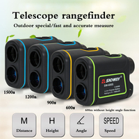 Telescope Rangefinder 600 Meters 900 Meters 1200 Meters Hand Held Outdoor Range Finder