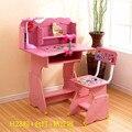 Madeira maciça de Mobiliário Infantil Define Crianças conjuntos de Mobiliário mesa de estudo crianças & chair & estante rosa azul kaki