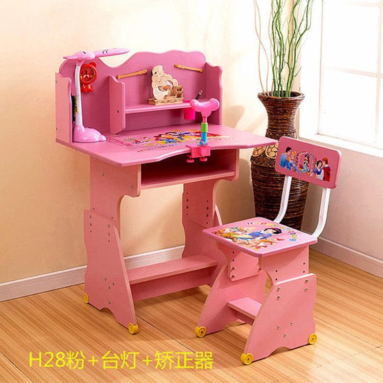 Solid Wood Children Furniture Sets Children Furniture Children Study Desk Chair Bookcase Sets