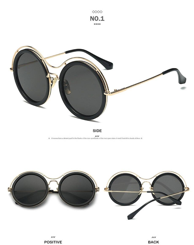 ZEXI Vintage Steampunk Okulary Okrągłe Koło Retro Okrągłe