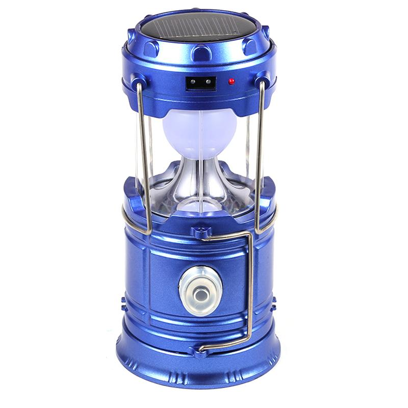 Multifunctional Outdoor Led Lanterns Light Rechargeable Solar Tent Lanterns Lamp with Handle Led Flashlights for Camping Hiking