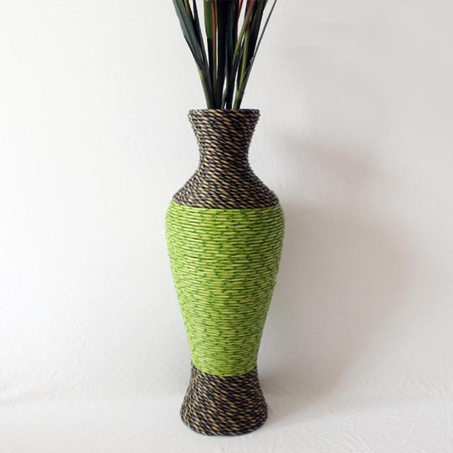 Rattan Floor Vase Dried Flowers Artificial Flower Bronze Tieyi Large Decoration 59