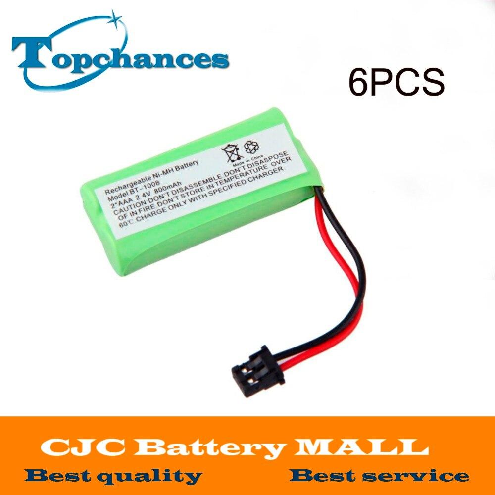 6Pcs For Uniden BT-1008 BT-1016 BT-1021 BT-1025 BT1021 BT1025 CPH-515B Cordless Home phone battery