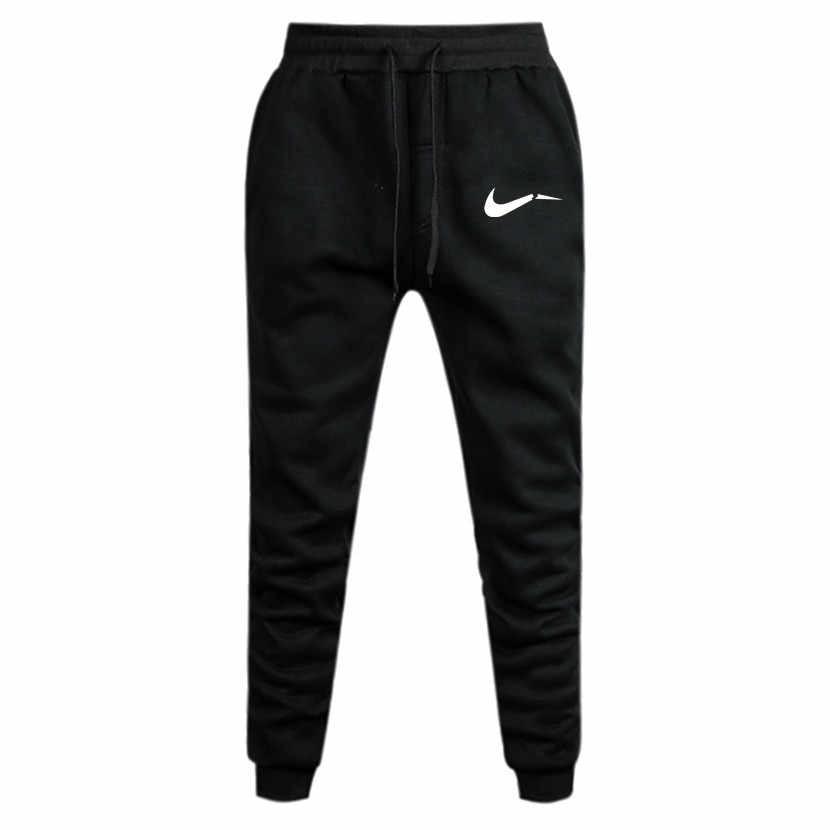 2019 осенние мужские черные брюки с принтом каракули, мужские брюки для бега, повседневные облегающие мужские спортивные штаны для фитнеса, большие размеры, оптовая продажа