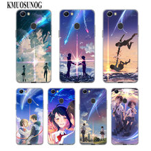 Transparent Soft Silicone Phone Case Japanese anime Your Name for OPPO F5 F7 F9 A5 A7 R9S R15 R17 Cover