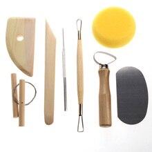 8 шт. набор глиняных керамических инструментов для литья деревянных ножей инструменты для гончарного дела практичные