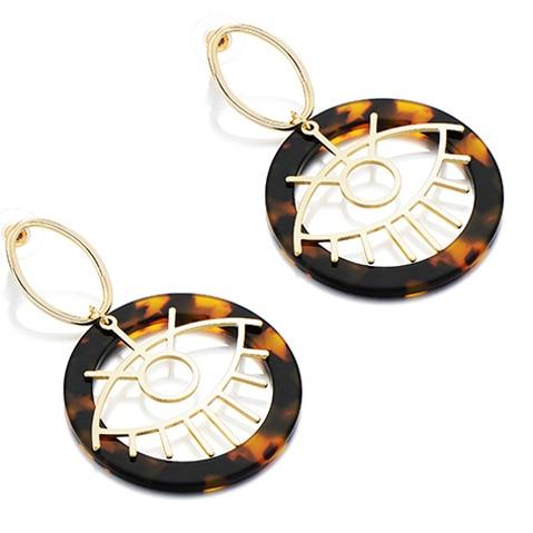 Женские леопардовые фигурные серьги ZA, висячие серьги черепаховой расцветки из акрилацетата, украшения для вечеринок - Окраска металла: 10694