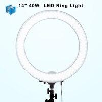 Meking Dimmable 18 LED Ring Light 55W 5500K 3200K 240 Beads For Studio Portrait YouTube Reviewer