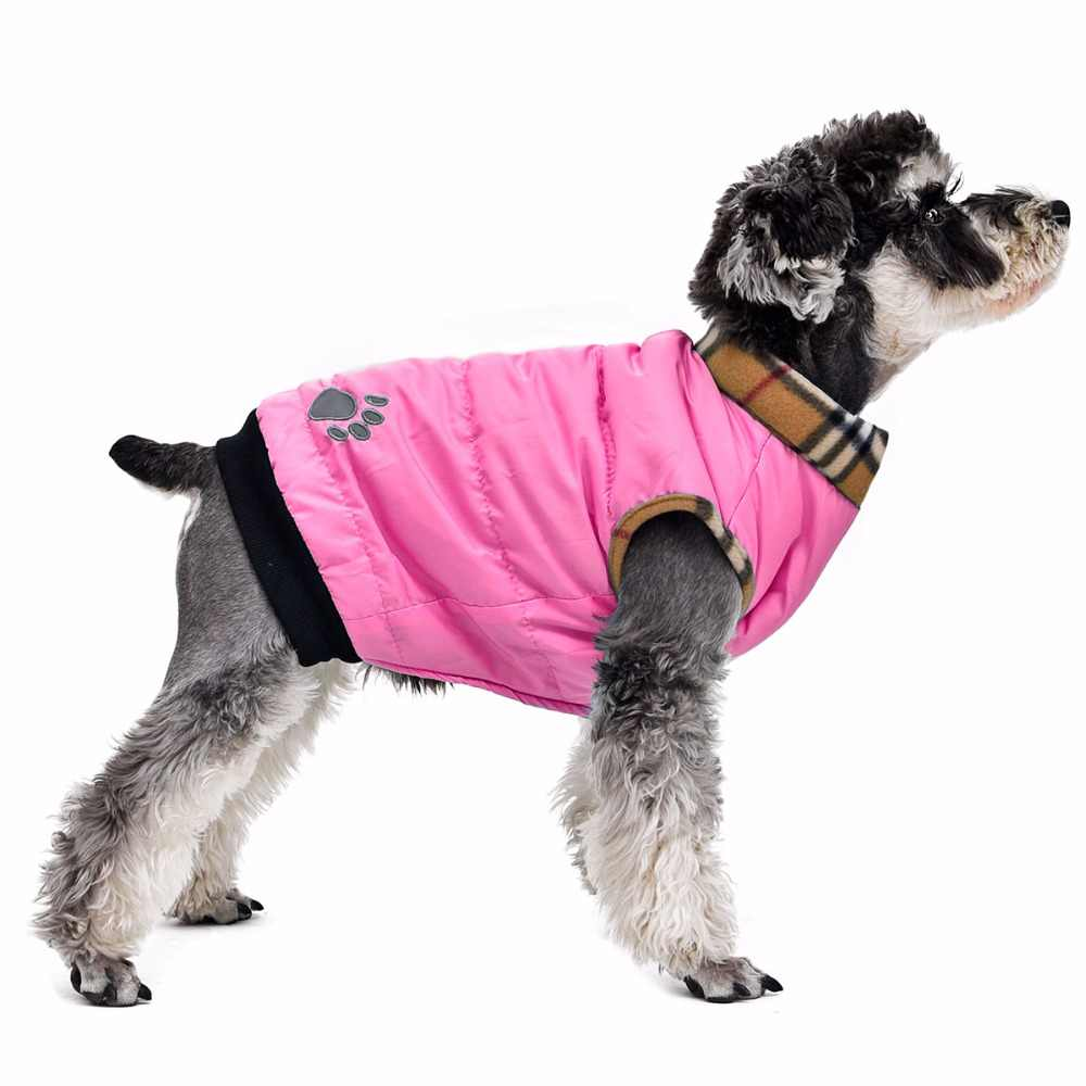 Roupas para cães de estimação estilo clássico 6 cores 5 tamanho disponível para pequeno meduim cão casual quente inverno outono casaco vestuário para animais de estimação