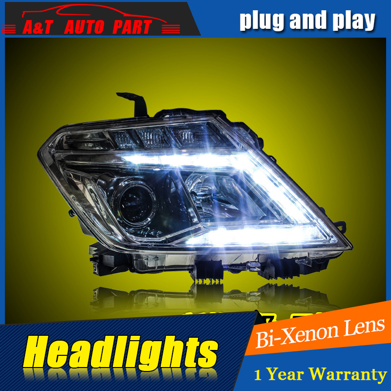 Car Styling For Nissan patrol headlight assembly 2014-16 For patrol LED head lamp Angel eye DRL front light with hid kit 2pcs. car styling head lamp for bmw e84 x1 led headlight assembly 2009 2014 e84 led drl h7 with hid kit 2 pcs