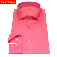 Male Long Sleeve Business Formal Dress Satin Red Face Cotton Shirts Men S Big Size Casual