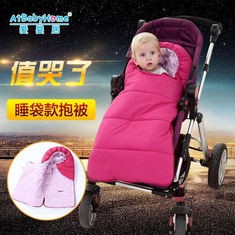 YoyaPlus Baby Footmuff For Stroller Footmuff Sleeping Bag Bugaboo Winter Solid Socks Unisex Envelopes Newborns Waterproof bag