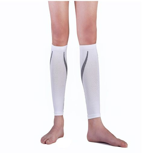 Compression Sport Running Socks Crural Sheath Pressure Socks Leggings Running Socks Leg Protection Outdoor Basketball,white