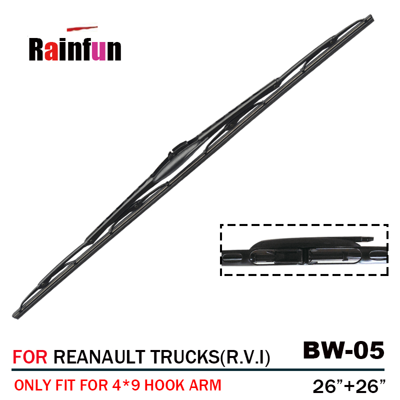 """26"""" +26"""" RAINFUN TRUCK WIPER BLADE WITH SPRAY NOZZLE, FIT FOR RENAULT TRUCKS (R.V.I), MIDLUM(2001 ),KERAX-in Truck Body Parts from Automobiles & Motorcycles on AliExpress - 11.11_Double 11_Singles' Day 1"""