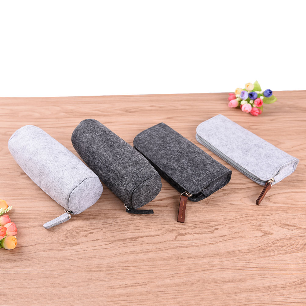 Wool Felt Pencil Bags Cases Minimalist Felt Pencil Bag Fabric Pencil Case Pencil Box School Supplies Office Supplies