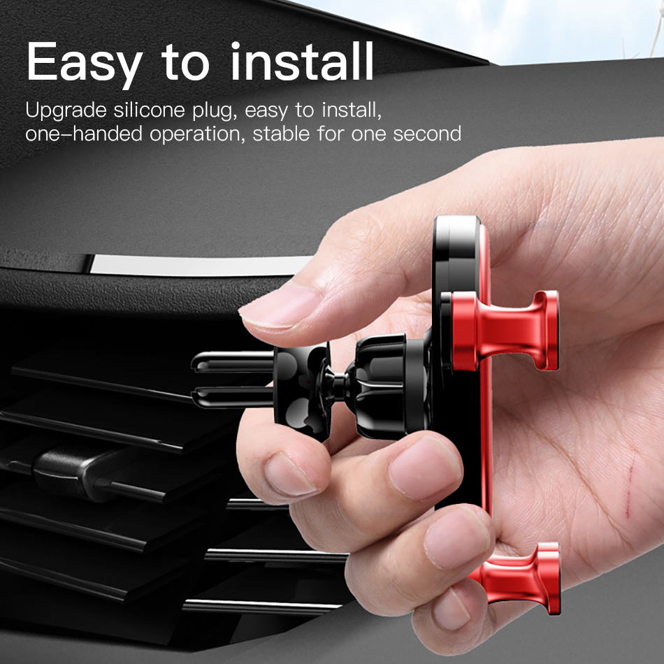 ACCEZZ Universal Gravity Car Phone Holder In Car Air Vent Mount Stand For iPhone 6 7 8 X XS Samsung Xiaomi Mobile Phone Bracket in Phone Holders Stands from Cellphones Telecommunications