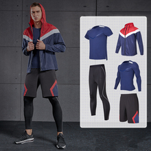 2019 Sports Clothing Suit Mens Gym Running Set Compression Tights Fitness Training Sportswear Jogging Tracksuits