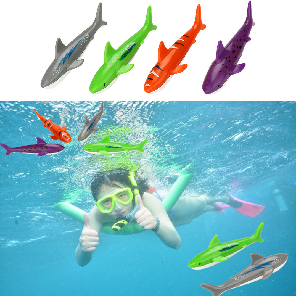 Girls Boys Throwing Torpedo Summer Fun Diving Toy Underwater Swimming Pool Gliding Shark Plastic Colorful and Funny Game
