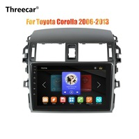 Threecar 2din 9inch Car Radio Mirrorlink Android Bluetooth Car Multimedia MP5 Player For Toyota Corolla 2008 2009 2010 2011 2013