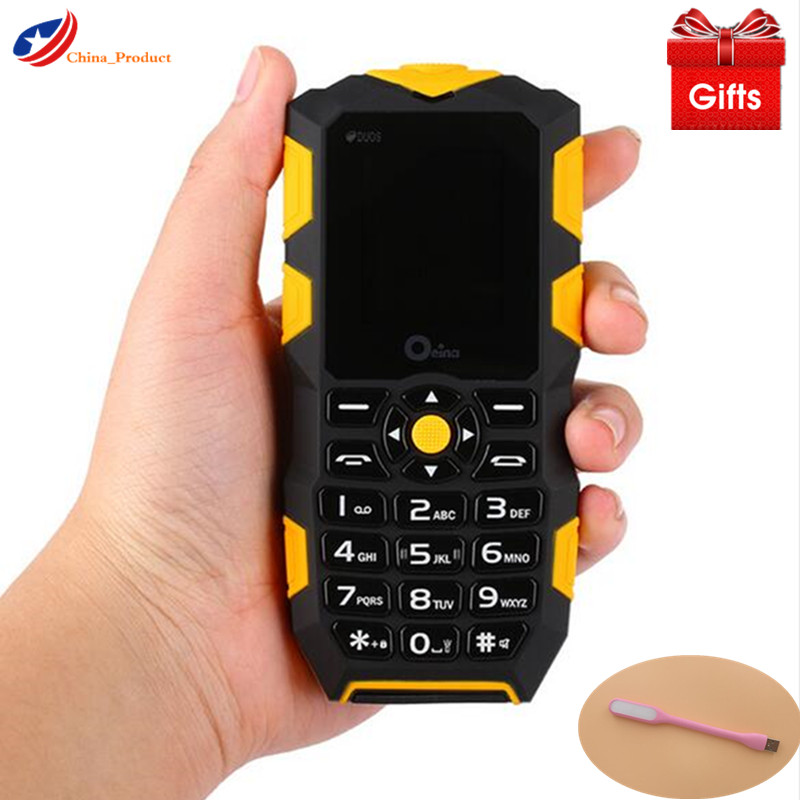 (Gift!) Oeina XP1 Russian Keyboard IP68 Waterproof and shockproof mobile phone 2500mAH Wireless FM flashlight Outdoor cell phone smartphone