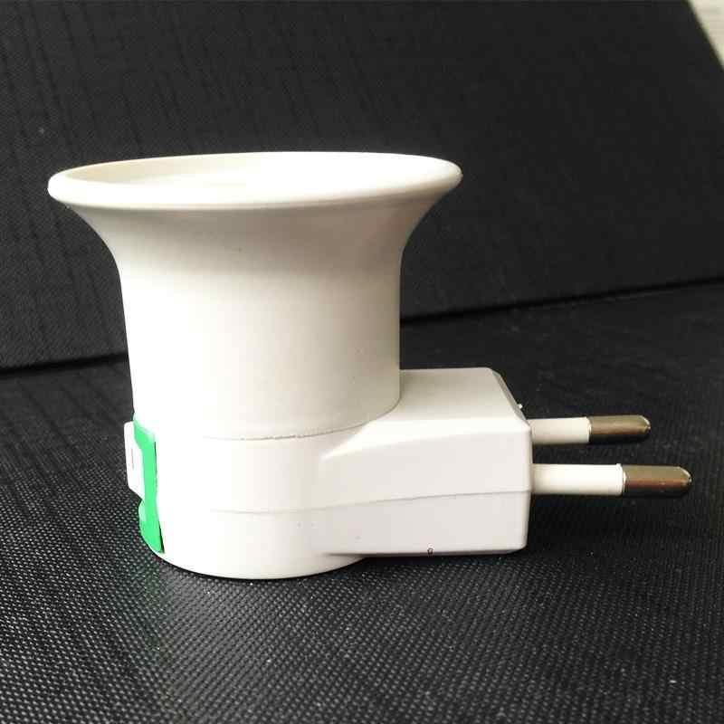 Цоколь лампы E27 Светодиодный светильник с разъемом для штепсельной вилки Европейского типа адаптер конвертер для патрона лампы с кнопкой ВКЛ/ВЫКЛ