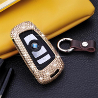 Luxury Diamond bling Aluminum Alloy Car Key Case Cover Key Shell For BMW 1 2 3 4 5 6 series X3 X4 Car Smart Remote Key Cover