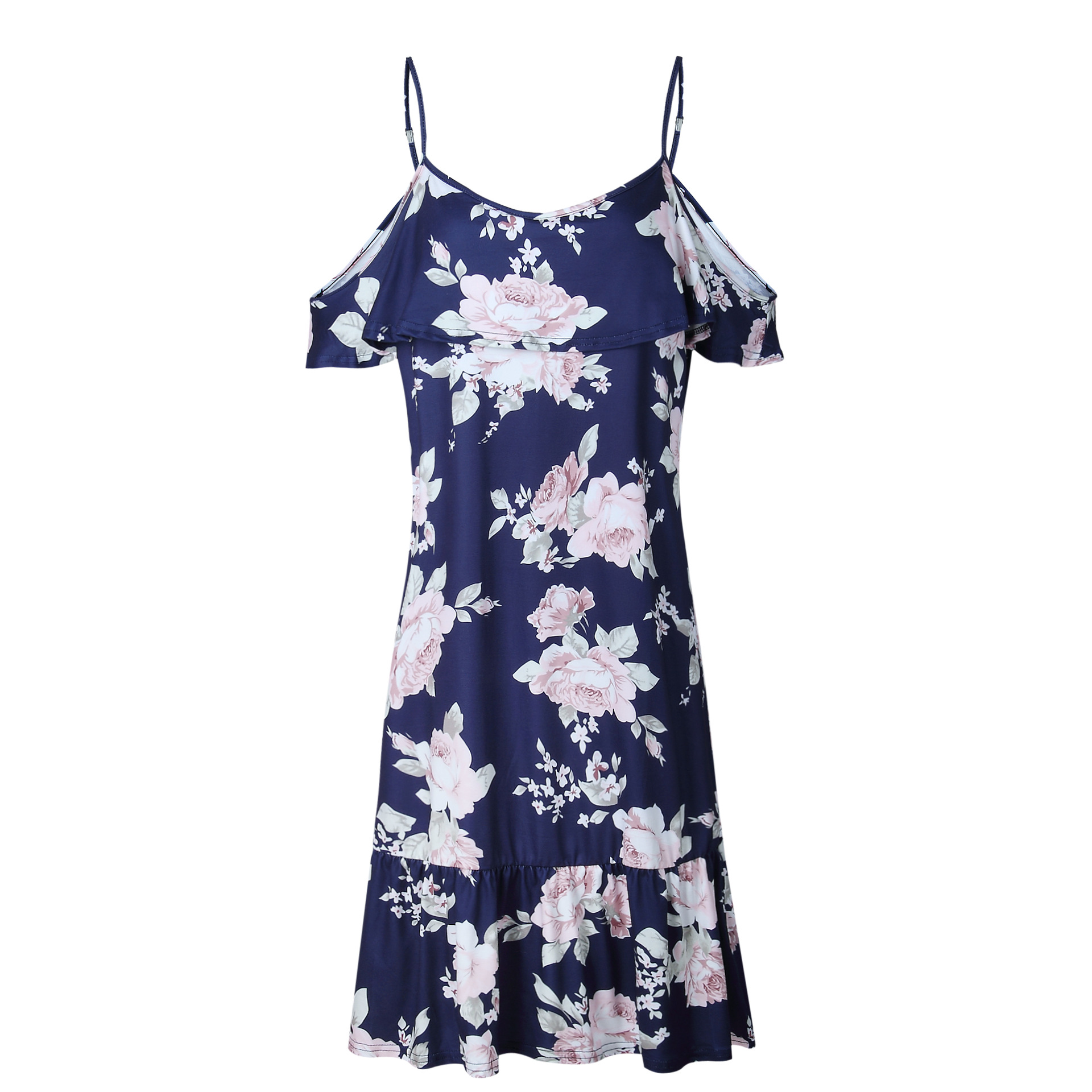 2019 Womens Summer Popular Style Print Dresses Sexy Club Casual Vintage Beach Sun Dress in Dresses from Women 39 s Clothing