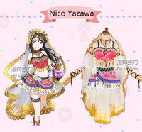 Love live! School Idol Project Awakening Arab Dancer Series Nico Yazawa Cosplay Costume Halloween costume Free Shipping.