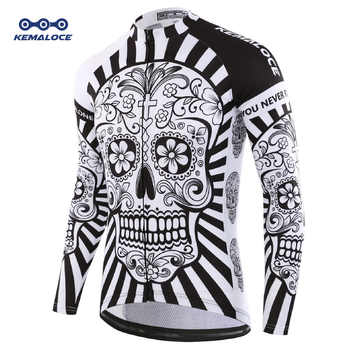2019 Autumn Pro Long Sleeve Cycling Jersey Skull Retro Men Full Sleeve Cycles Shirt Wear Team Ropa De Ciclismo Long Bike Jersery - DISCOUNT ITEM  30% OFF All Category